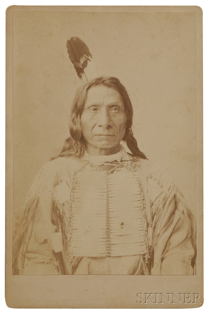 Cabinet Card of Famous Lakota Chief Red Cloud