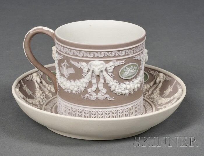 Wedgwood Three-color Jasper Dip Coffee Can and Saucer