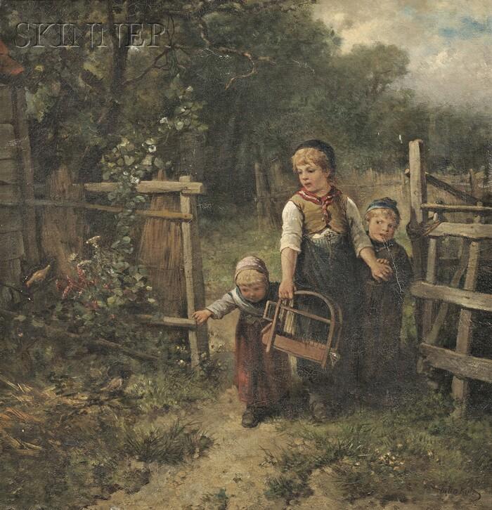 Johan Mari Henri Ten Kate (Dutch, 1831-1910)      The Birds