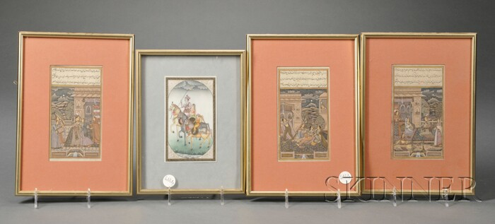 Four Indo-Persian Paintings