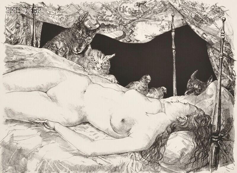 Léonard Tsuguharu Foujita (French/Japanese, 1886-1968)      Le rêve