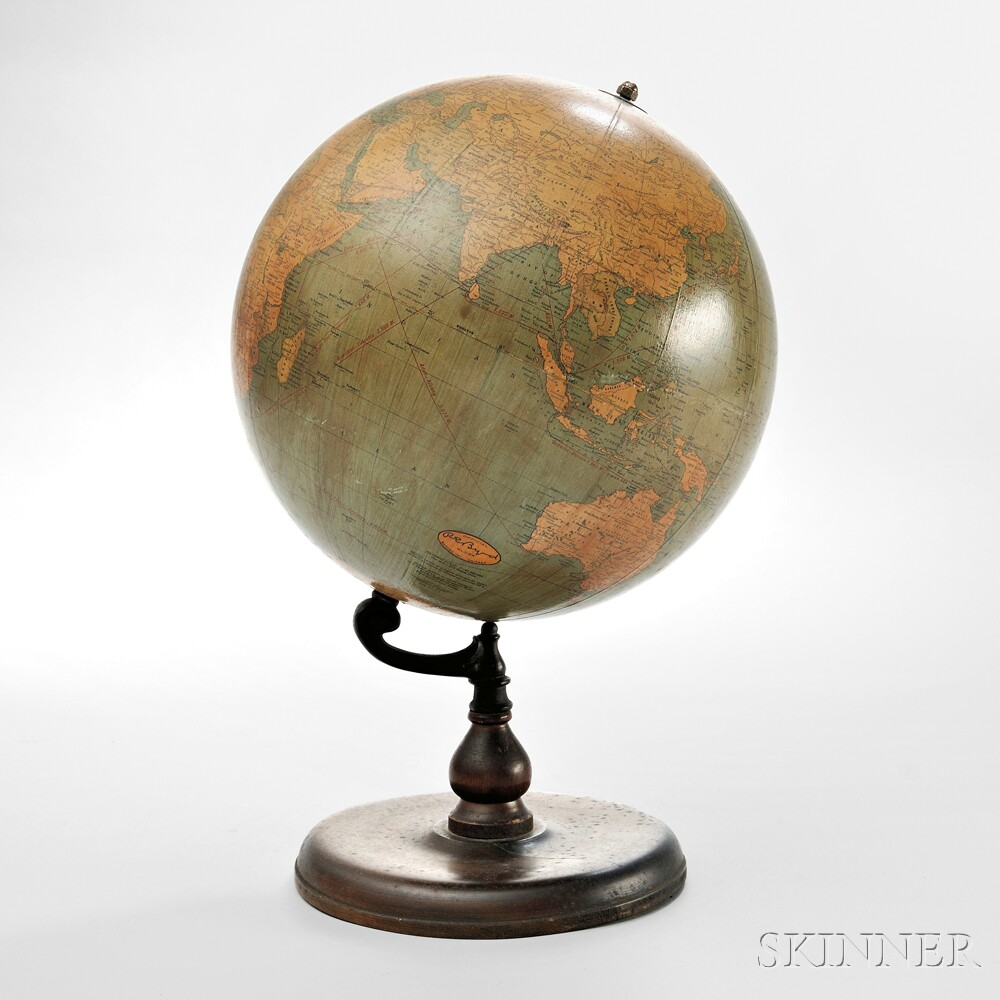 Official R.E. Byrd Expedition Globe and Pamphlet