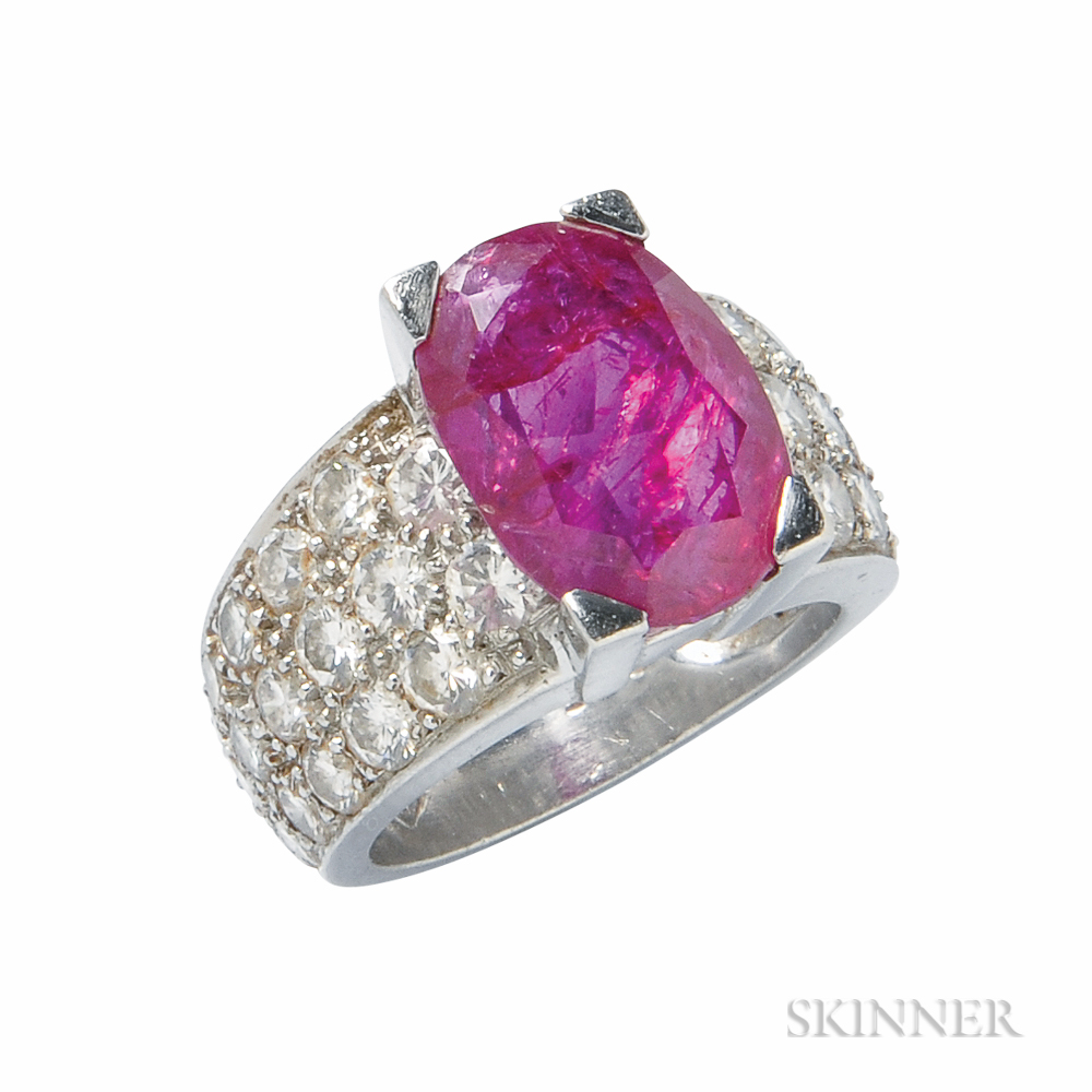 platinum ruby and ring sale number 3027b lot
