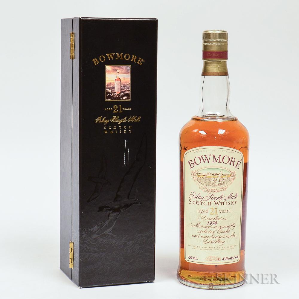 Bowmore 21 Years Old 1974, 1 750ml bottle (oc)