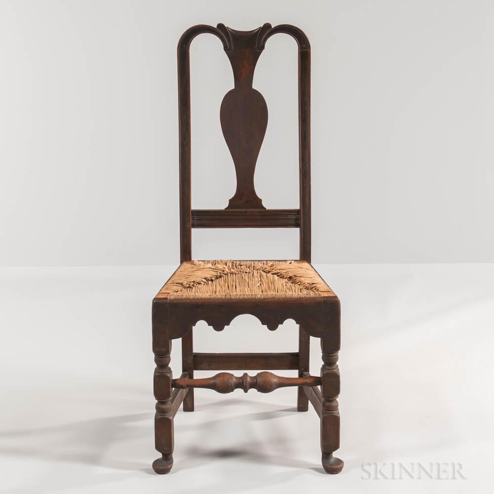 Queen Anne Rush-seat Side Chair