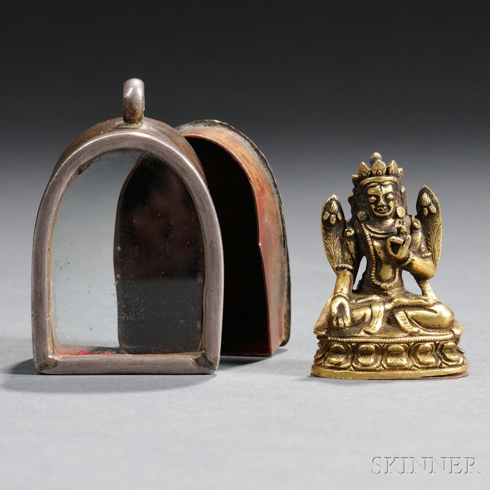 Sino-Tibetan Portable Pendant Shrine