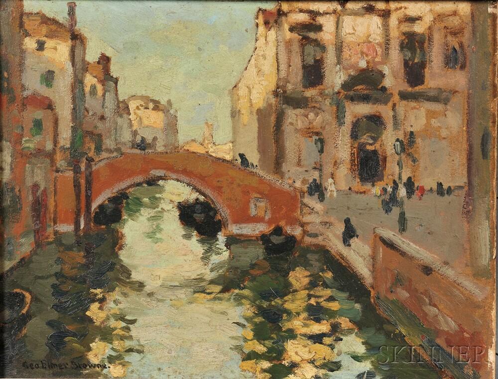 George Elmer Browne (American, 1871-1946)      Afternoon in Venice
