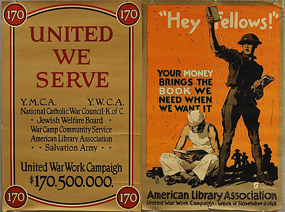 Two American Library Association WWI Lithograph Posters