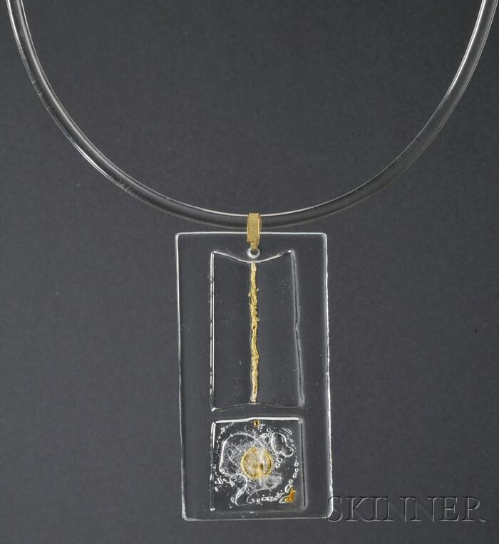 Solar-Lunar Necklace #4, Margret Craver
