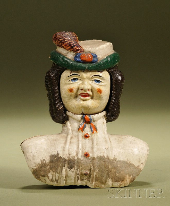 Rare Prosopotrope Four-Face Doll Head, Ozias Morse