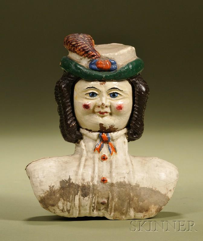 Rare Prosopotrope Four-Face Doll Head, Ozias Morse