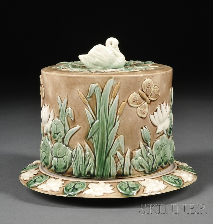 Griffen, Smith & Hill Majolica Cheese Dish and Cover