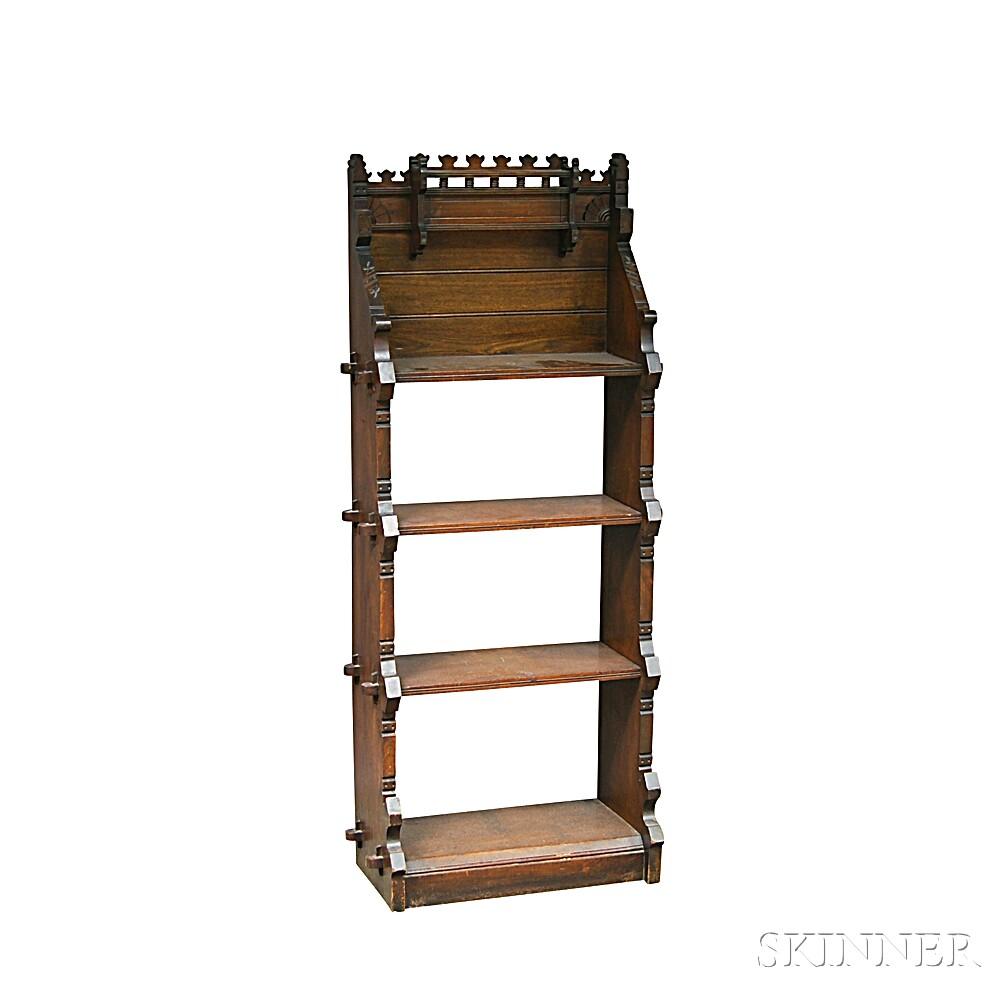 Small Renaissance Revival Walnut Bookcase