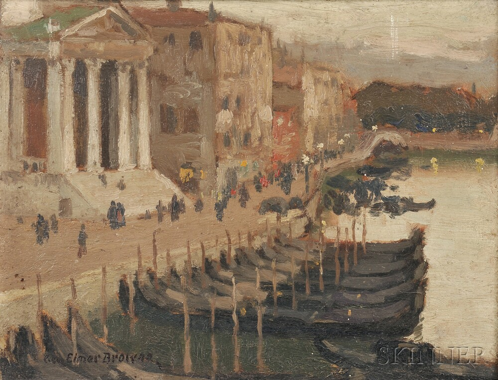 George Elmer Browne (American, 1871-1946)      Evening in Venice