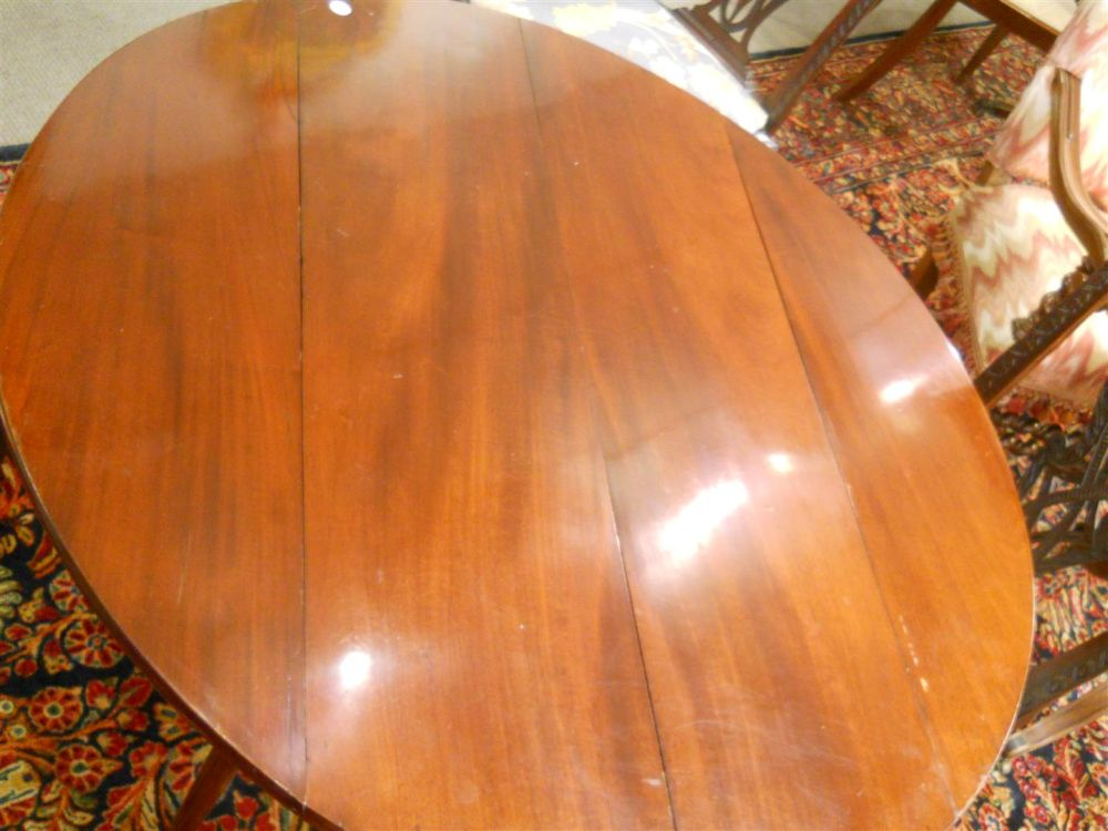 Louis XVI Mahogany Drop-leaf Dining Table