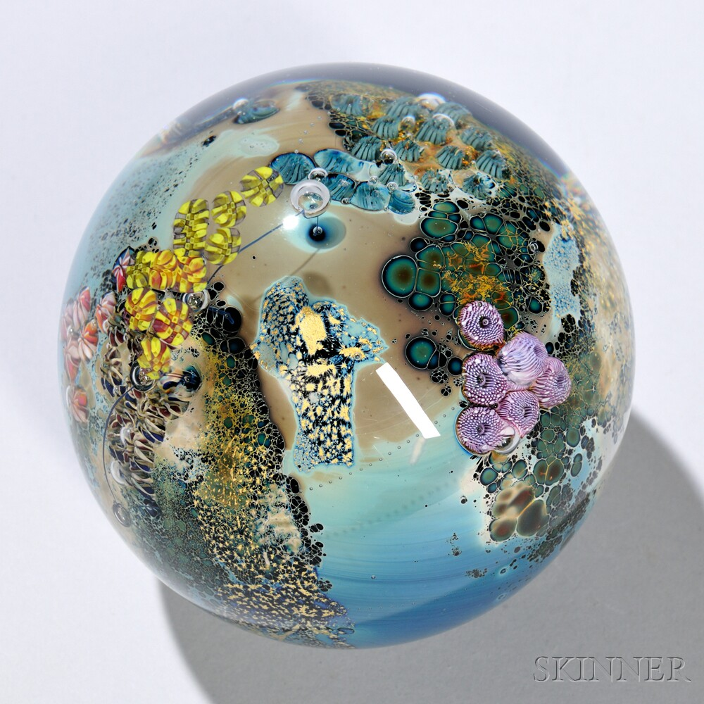Large Josh Simpson (b. 1949) Paperweight