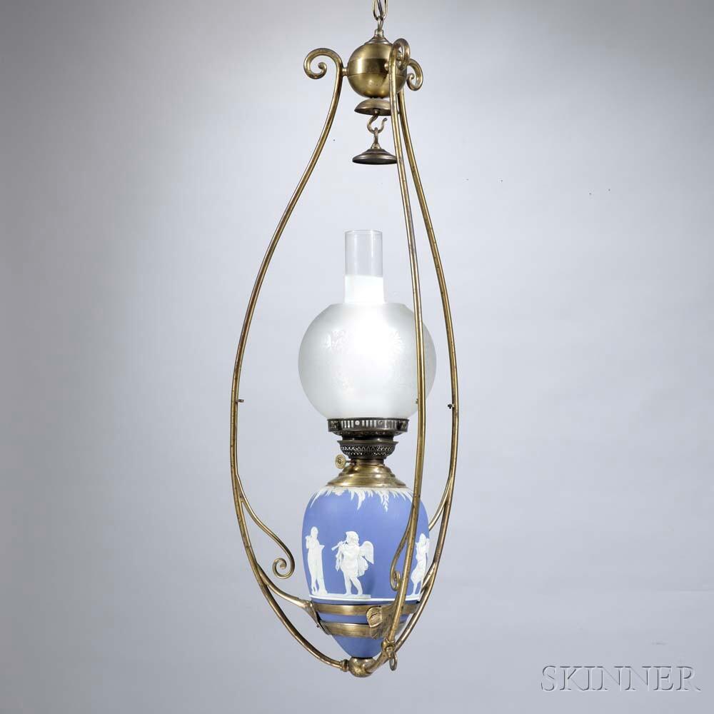 Wedgwood Dark Blue Jasper Dip Hanging Lamp
