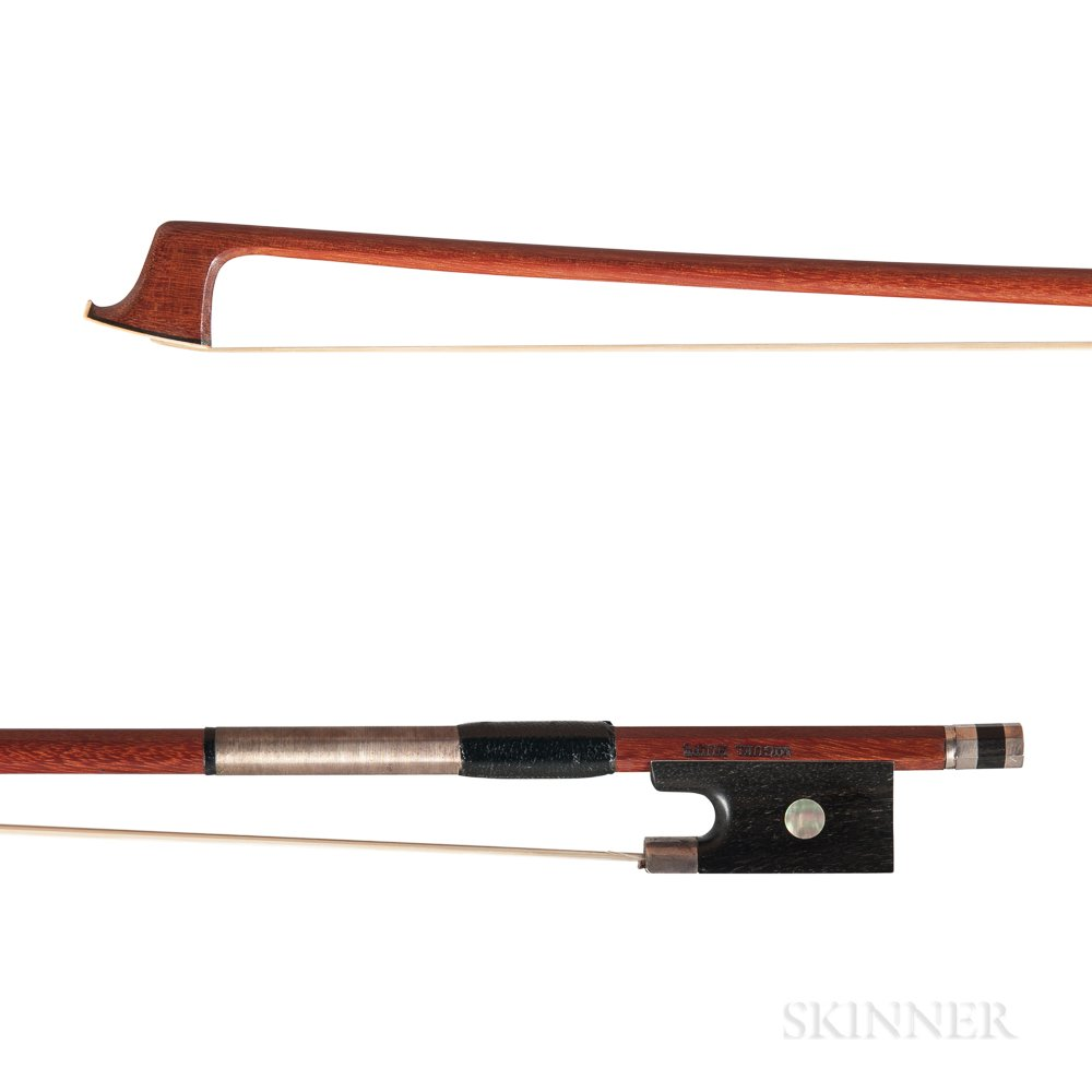 Silver-mounted Viola Bow