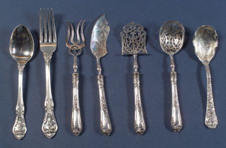 Group of American and Continental Flatware