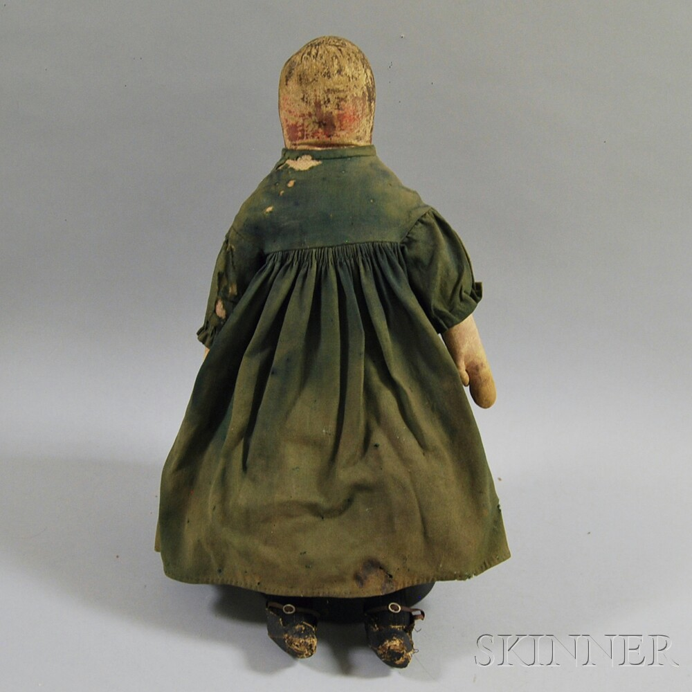 Early Painted Sock-head Doll