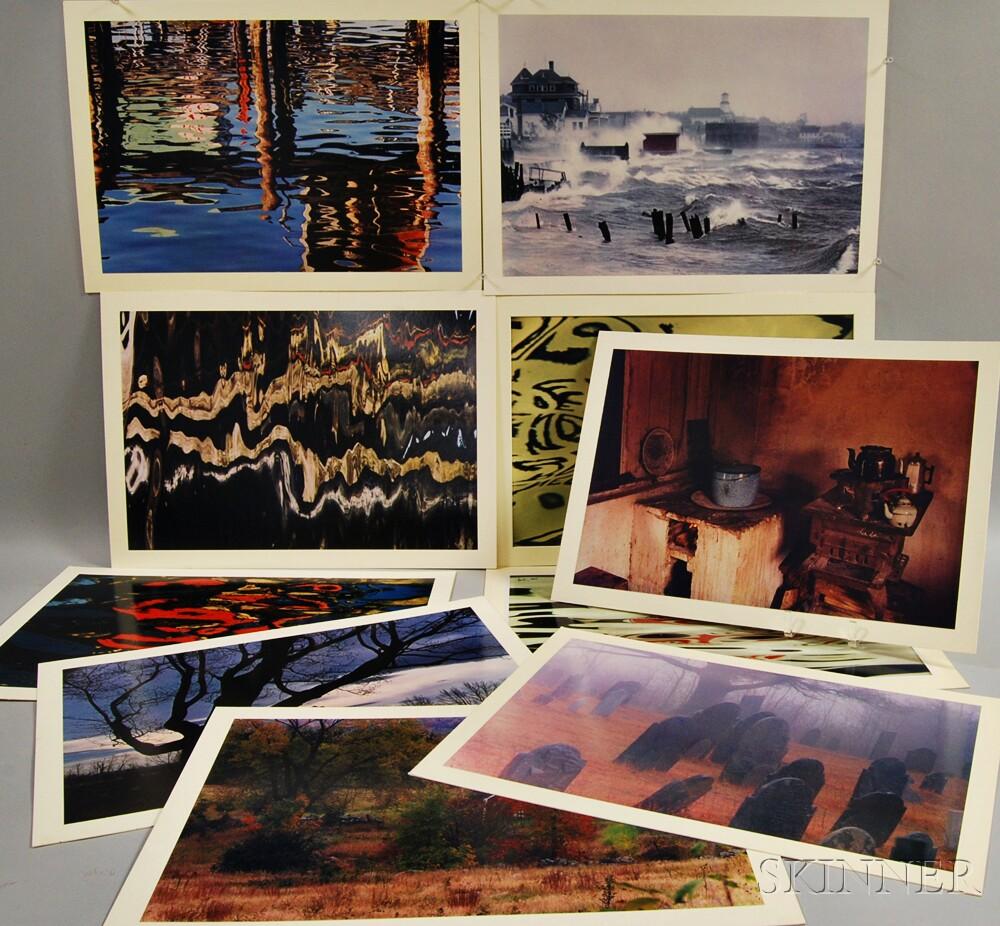 Daniel Farber (American, 1906-1988)      Ten Photographs:   Leaning Maple