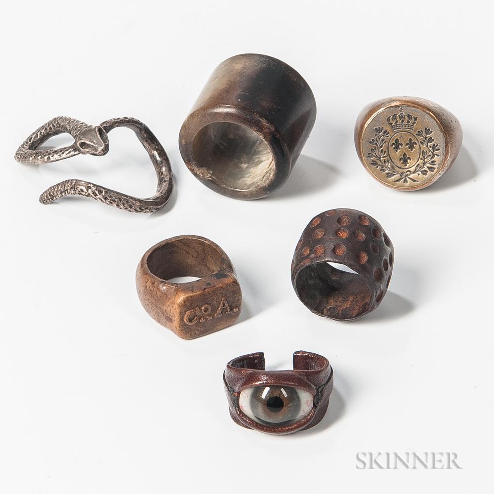 Six Gentlemen's Rings