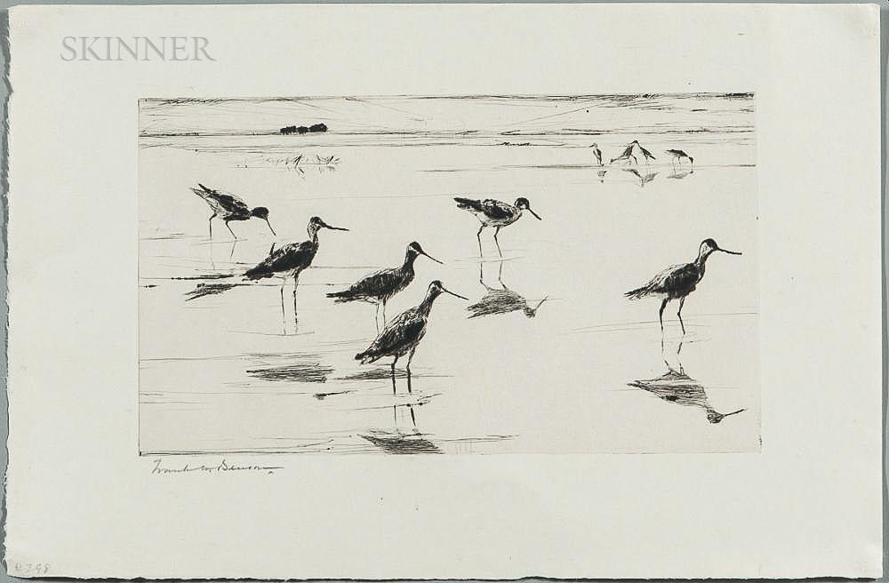 Frank Weston Benson (American, 1862-1951)      Waders