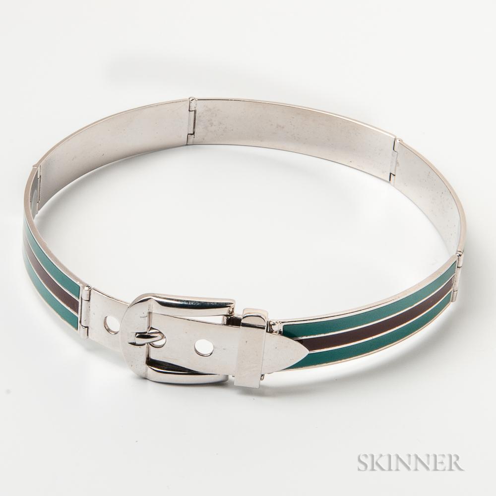 Steel and Enamel Collar, Gucci