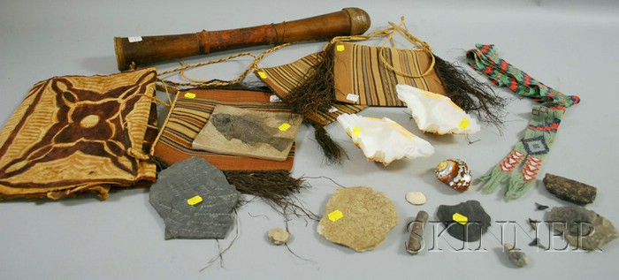 Group of Assorted Natural History and Ethnographic Items.