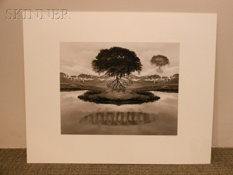 Jerry Uelsmann (American, b. 1934)      Untitled   (Floating Tree)