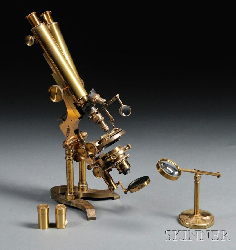 Ross, London Binocular Microscope No. 5115