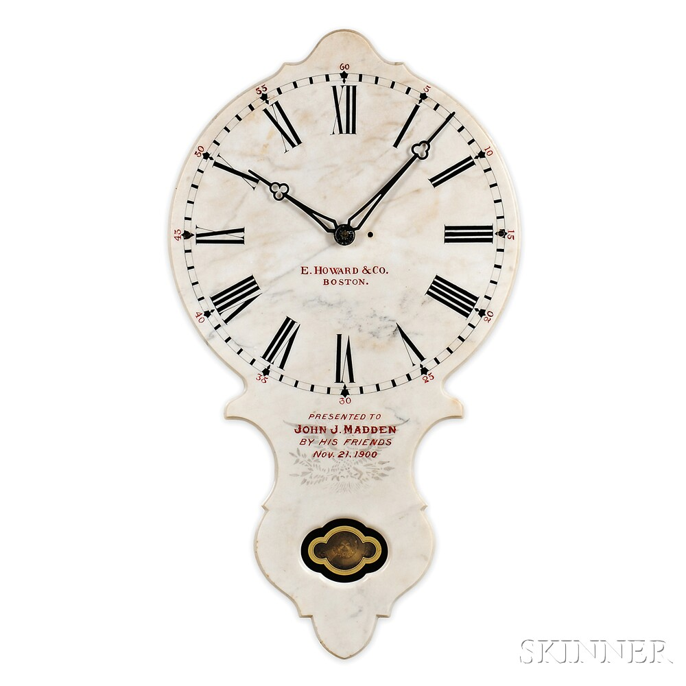 E. Howard No. 17 Marble Wall Clock