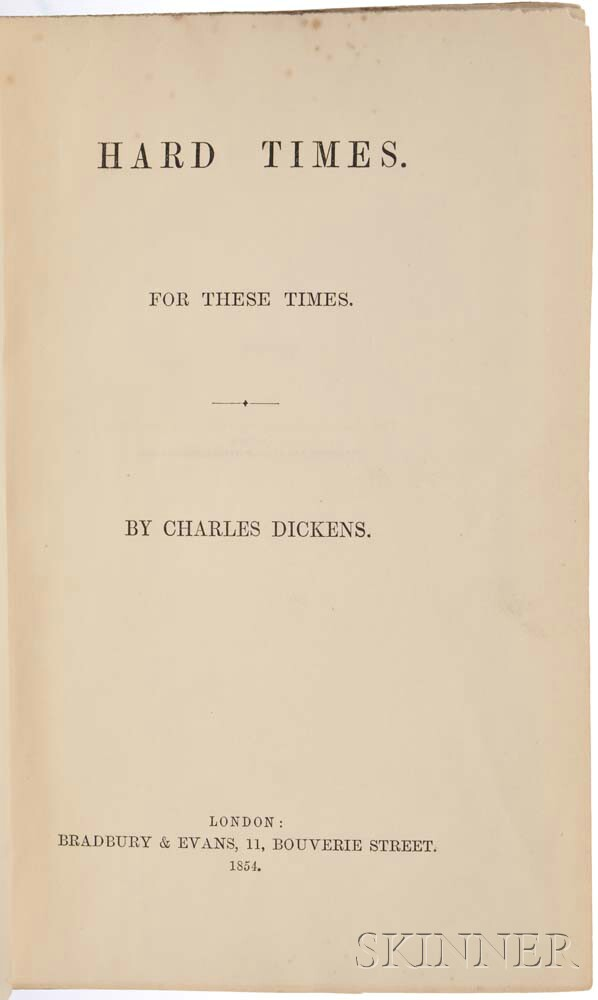 Dickens, Charles (1812-1870) Hard Times.
