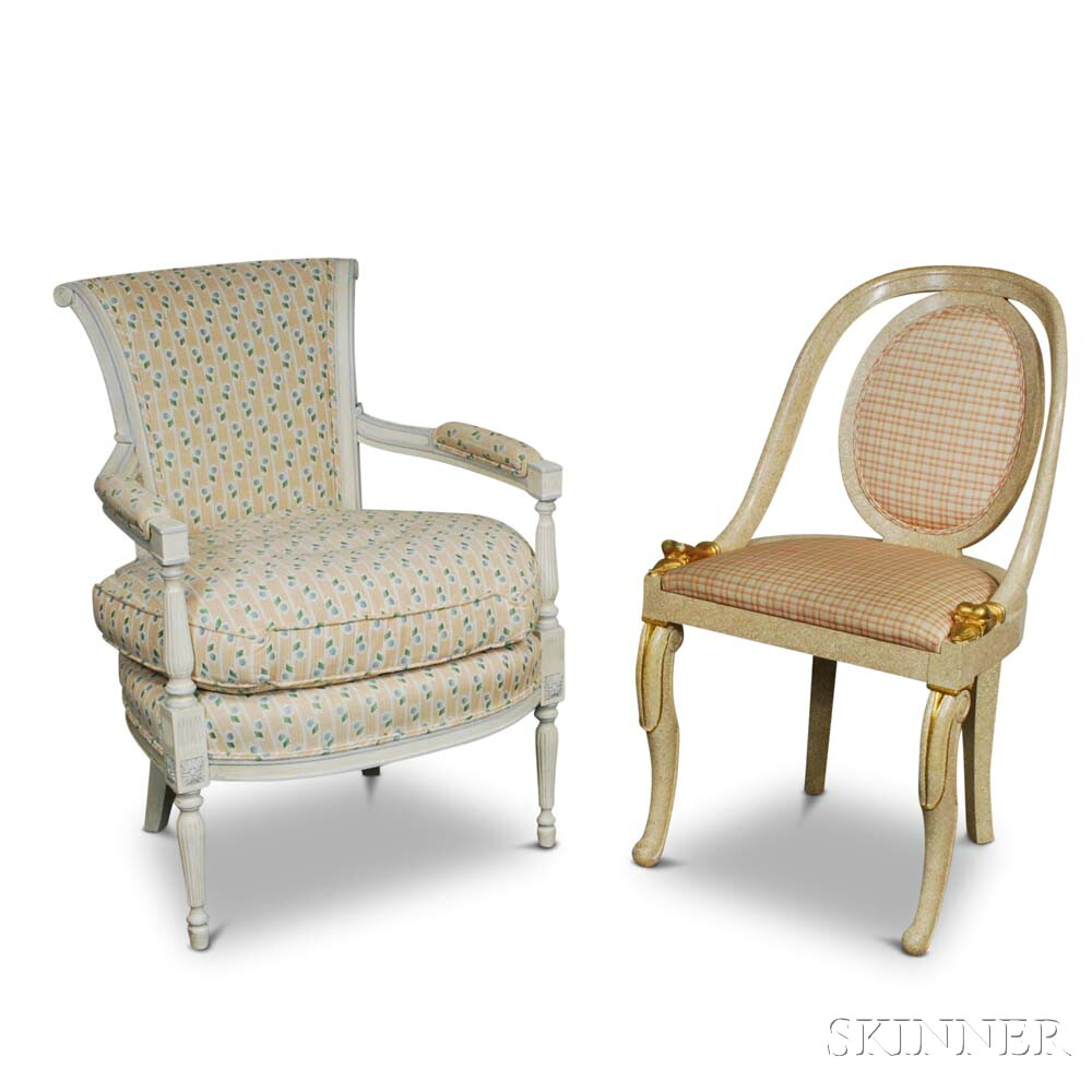 Two French-style Upholstered Chairs