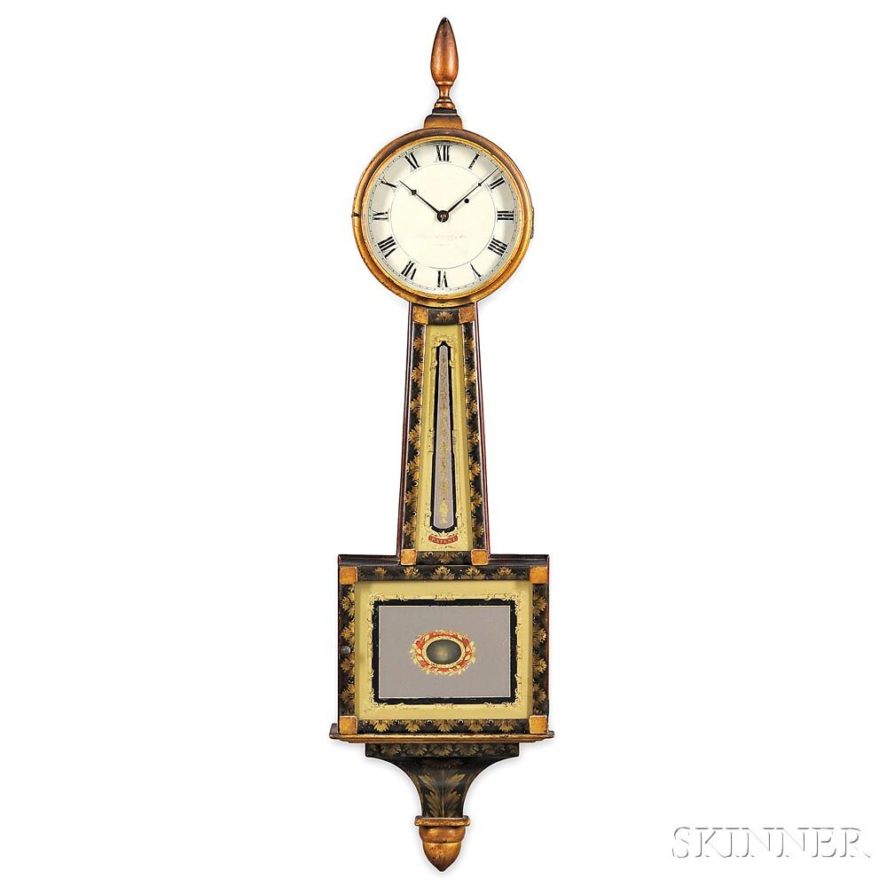 Simon Willard and Son Stenciled Timepiece