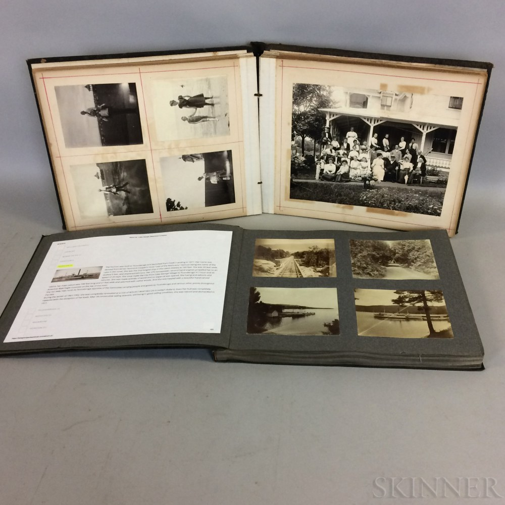 Group of Late 19th/Early 20th Century Travel Photographs in Two Albums.     Estimate $200-300