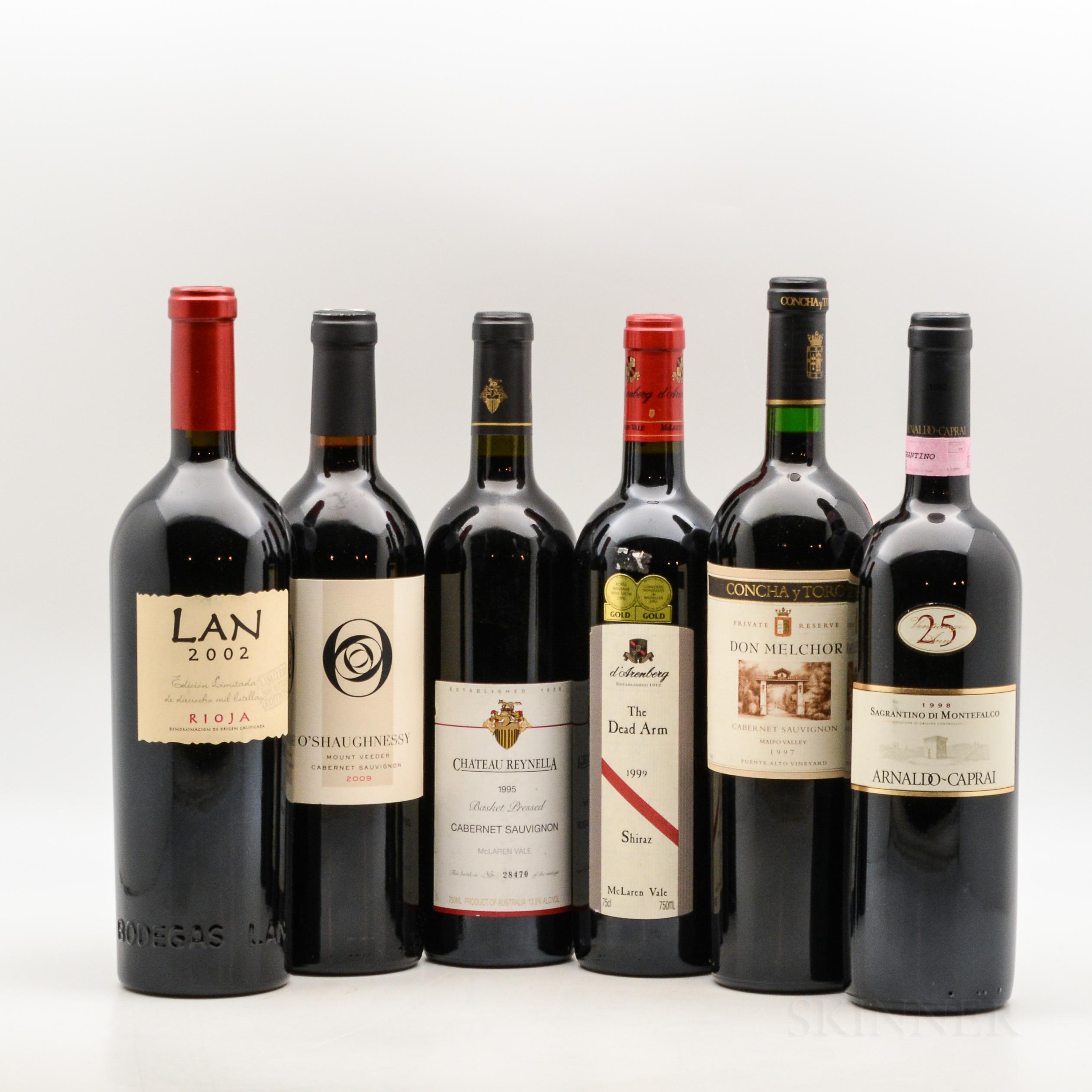Mixed Worldwide Reds, 6 bottles