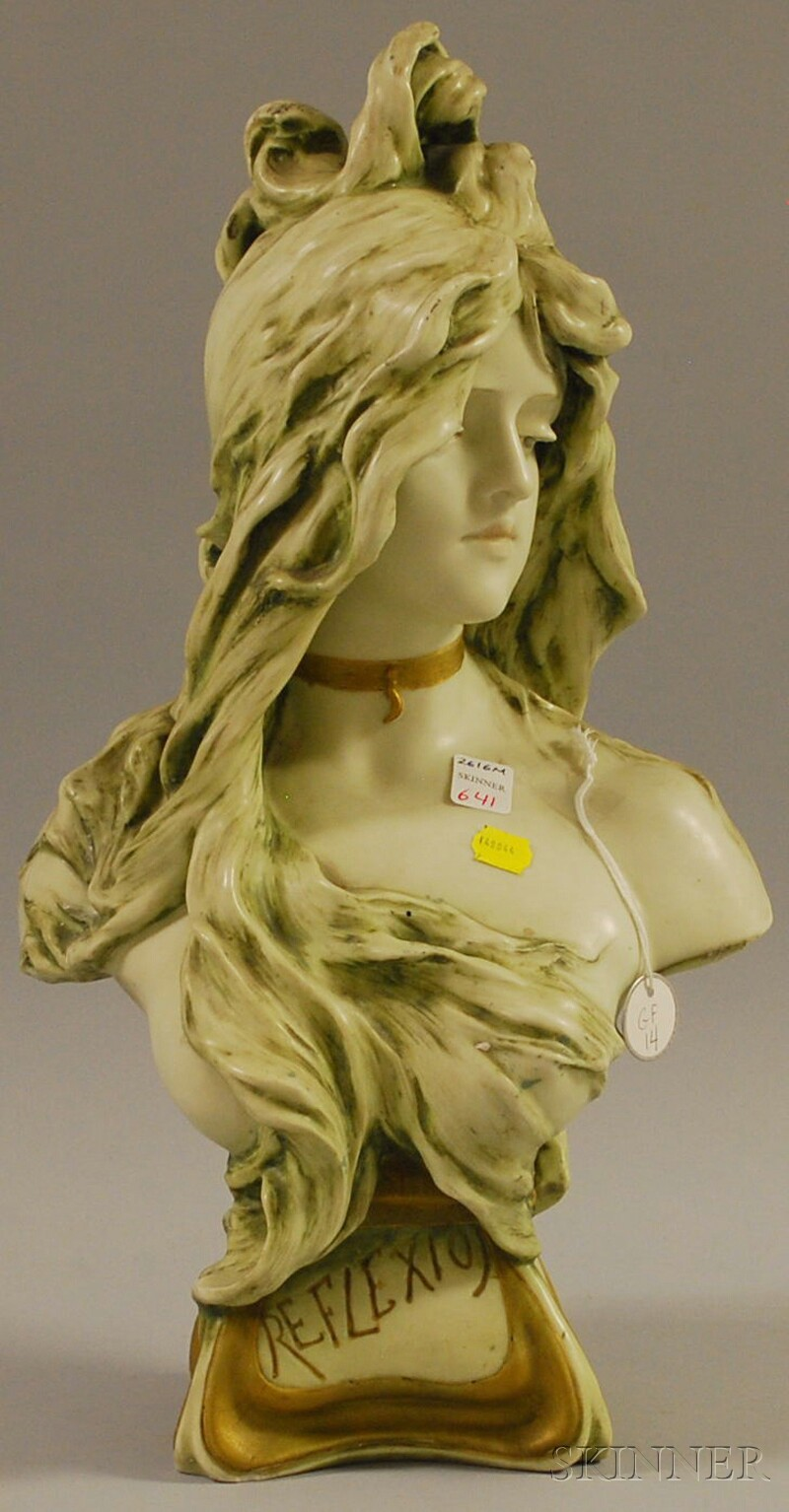Bohemian Art Pottery Bust of a Woman
