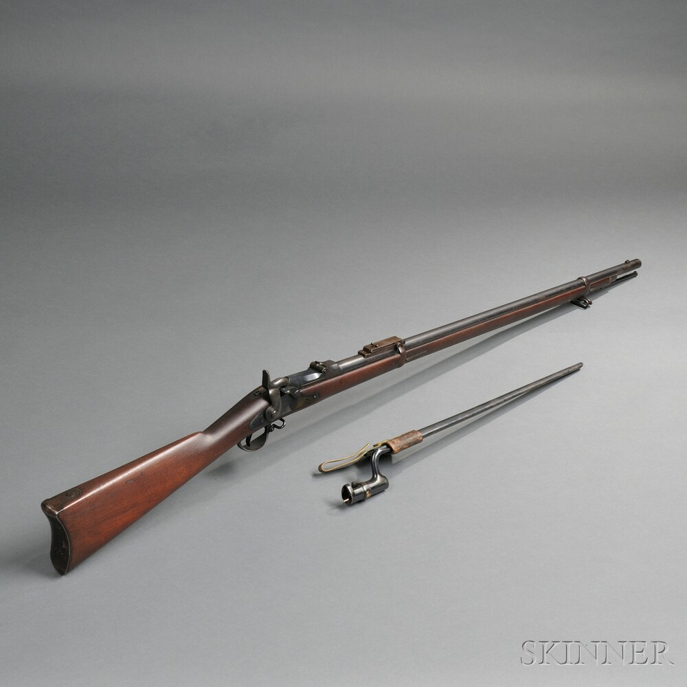 Model 1884 Trapdoor Springfield Rifle with Bayonet and Scabbard