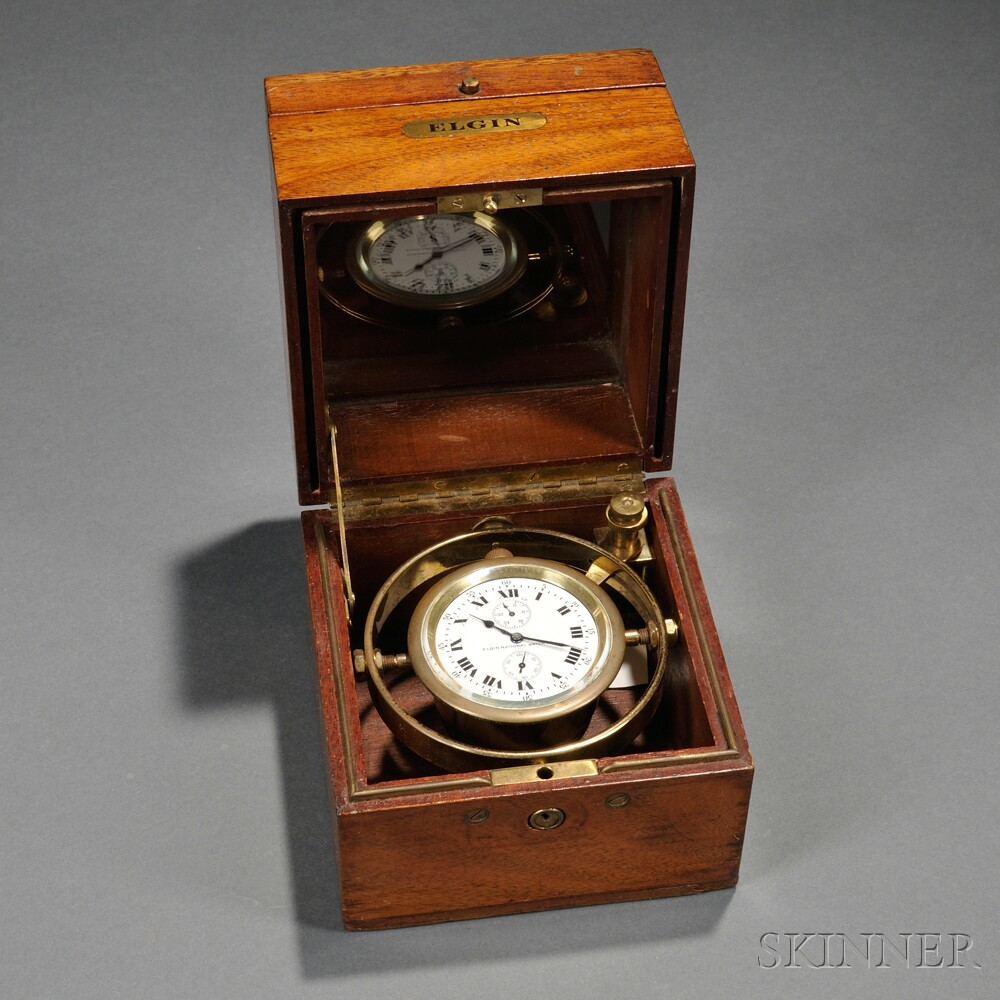 """Elgin """"Father Time"""" Boxed Chronometer"""