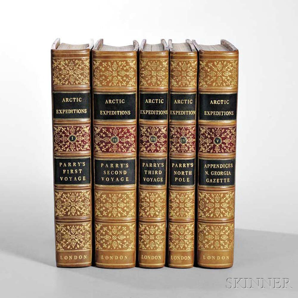 Parry, William Edward (1790-1855) Journal of a Voyage for the Discovery of a North West Passage,   Five Volume Set.
