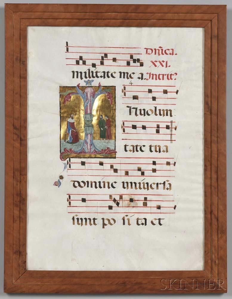 Music Manuscript Leaf.