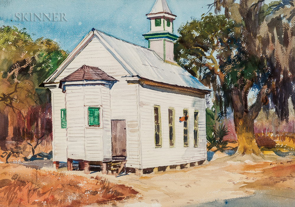 Aiden Lassell Ripley (American, 1896-1969)      One Room Church