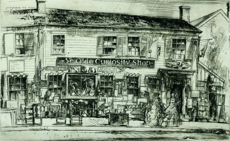 Earl Horter (American, 1881-1940)      Ye Olde Curiosity Shop.