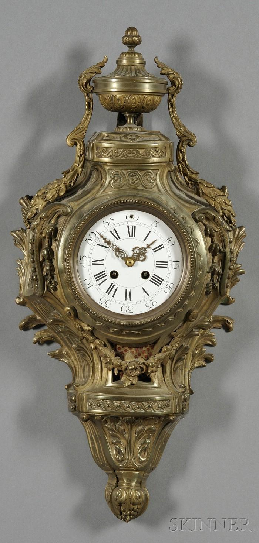Bronze Louis XV-style Cartel Clock
