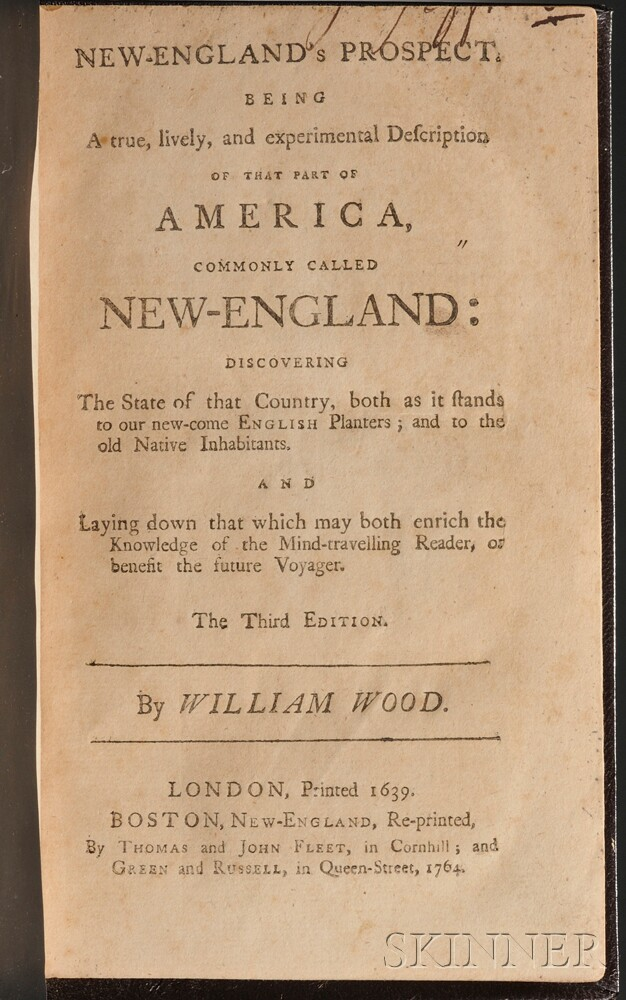 Wood, William (fl. 1629-1635) New England's Prospect