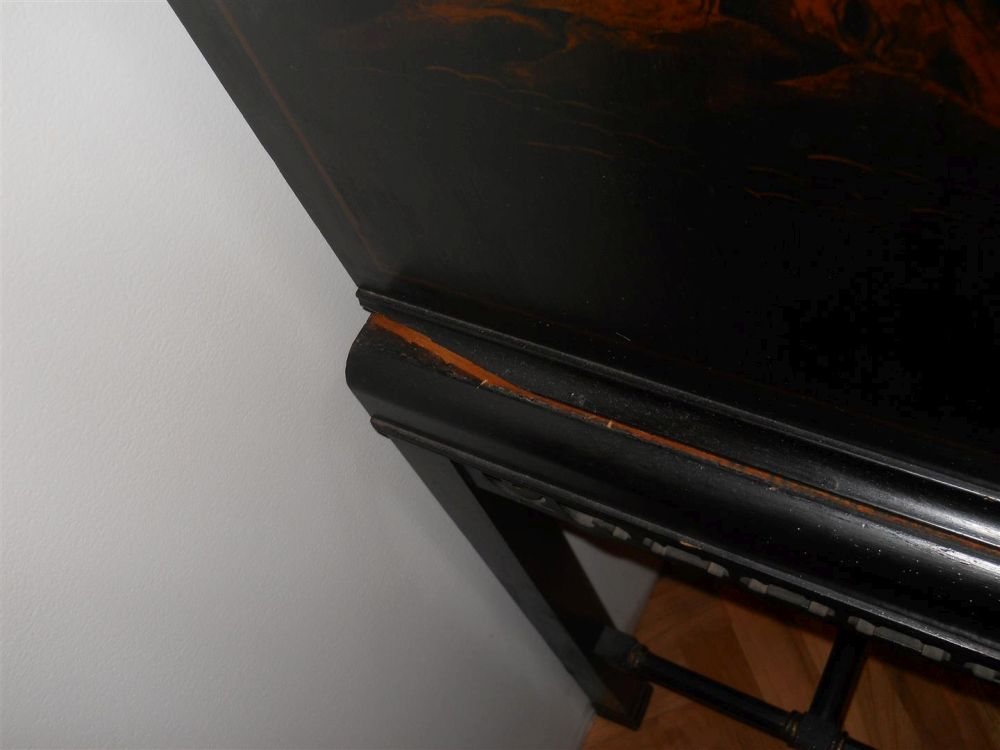 Japanned Cabinet-on-Stand
