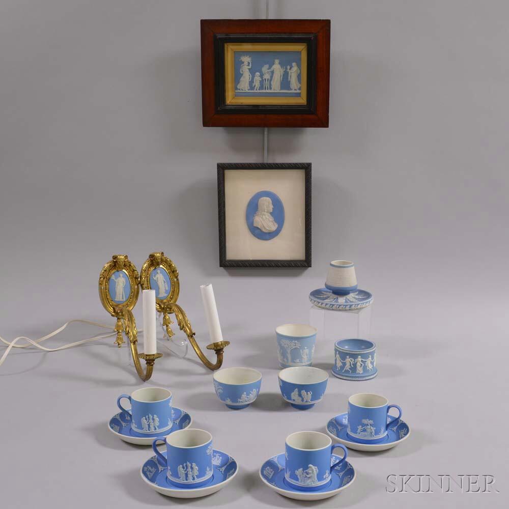 Seventeen Mostly Wedgwood Light Blue Jasper Items