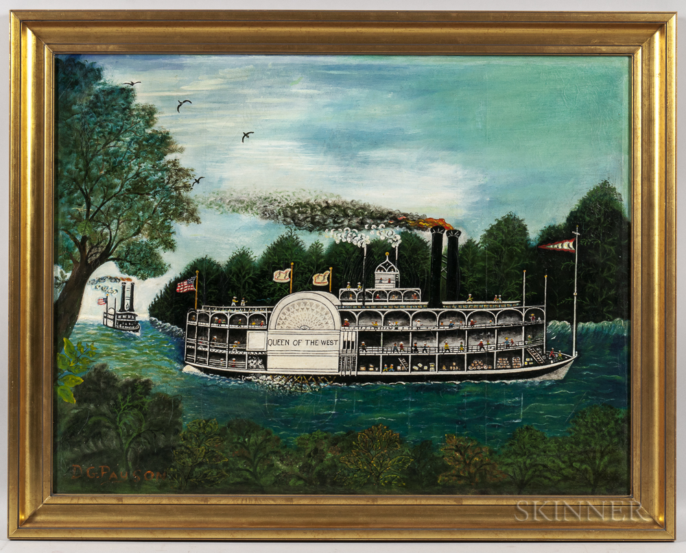 D.G. Payson (American, Early 20th Century)      Sidewheel Steamer Queen of the West