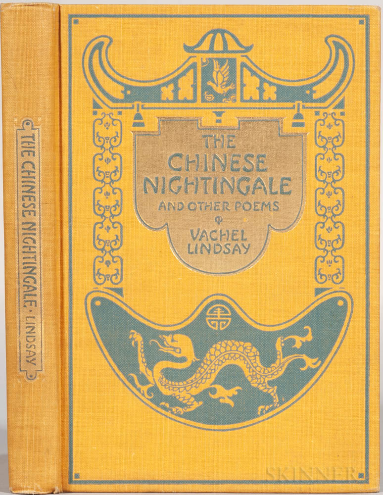 Lindsay, Vachel (1879-1931) The Chinese Nightingale and Other Poems  , Signed Presentation Copy to Katharine Lee Bates (1859-1929).